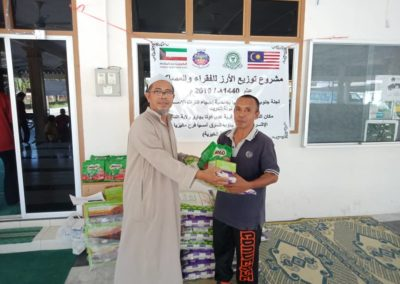 RICE 2019 - Distribution at Masjid Kg Huda (1)